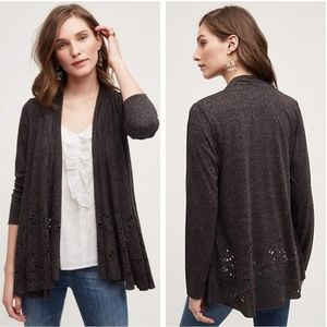 Anthropologie Sweaters - Anthro Meadow Rue Verna Lazer Cut Cardigan